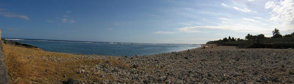 Panorama de la plage de St Pierre